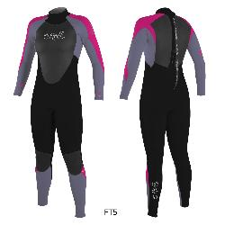 TRAJE ONEILL GIRLS EPIC 4/3MM BACK ZIP FULL, CREMALLERA ESPALDA NIÑA, 0